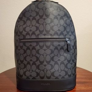 COACH WEST SLIM BACKPACK IN SIGNATURE CANVAS